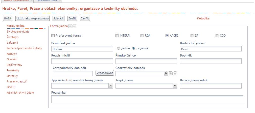 Editační formulář