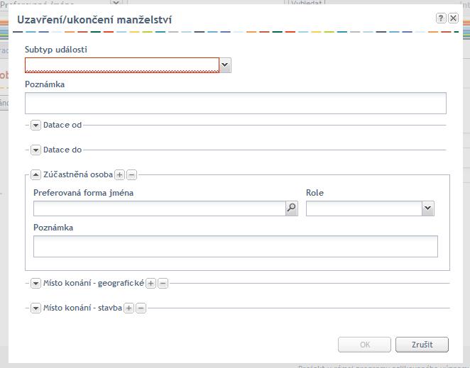 Příklad pomocného formuláře